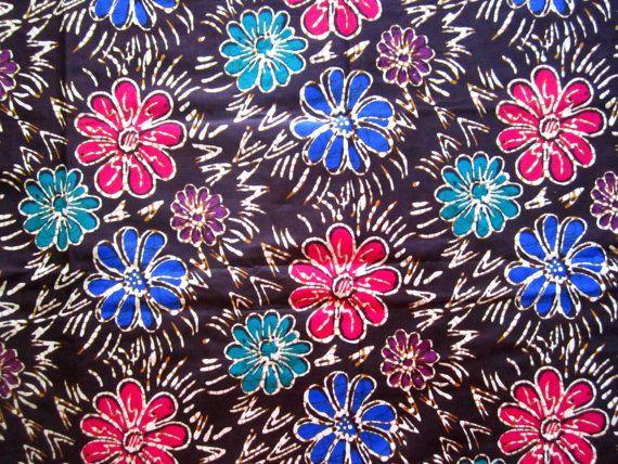 Cotton  Batik  Dark Brown Floral  Sarong