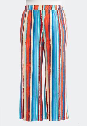 baa0648f76ffa Cato Fashions Plus Size Painted Stripe Palazzo Pants  CatoFashions ...