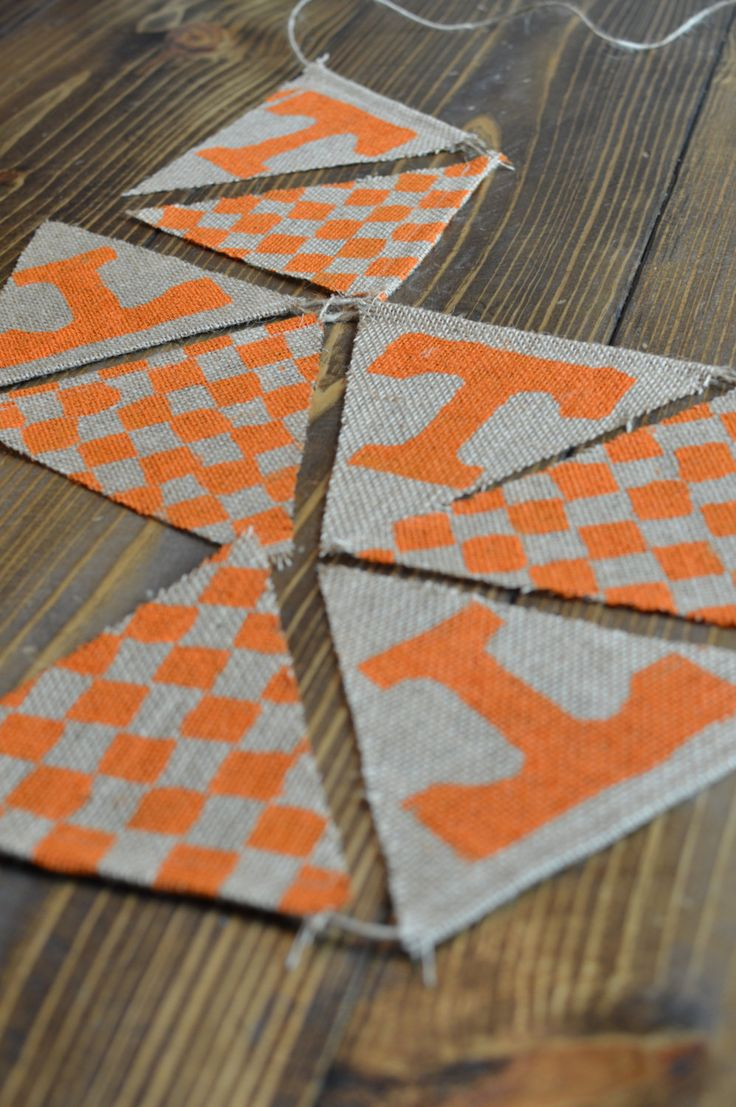 Tennessee Volunteers Bunting Banner Orange Football Go Vols by FuchsiaFeather on Etsy