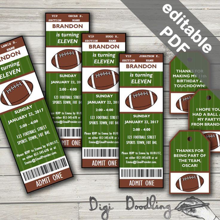 17 Best ideas about Football Party Invitations – Football Party Invitations