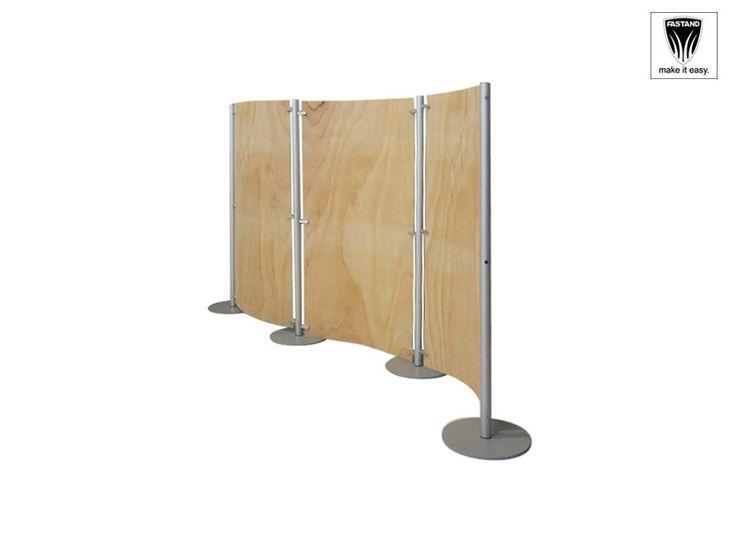 Millemiglia Separè orientabile mobile, componibile e modulare, completa di struttura in alluminio anodizzato, e pannello in finitura naturale, realizzato in legno rosatello da spessore 1 cm, ideale per divisione di spazi, sale d'attesa.