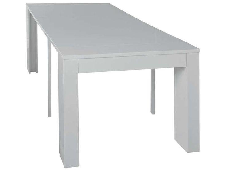 Table rectangulaire PENINSULE coloris blanc - Vente de Console - Conforama
