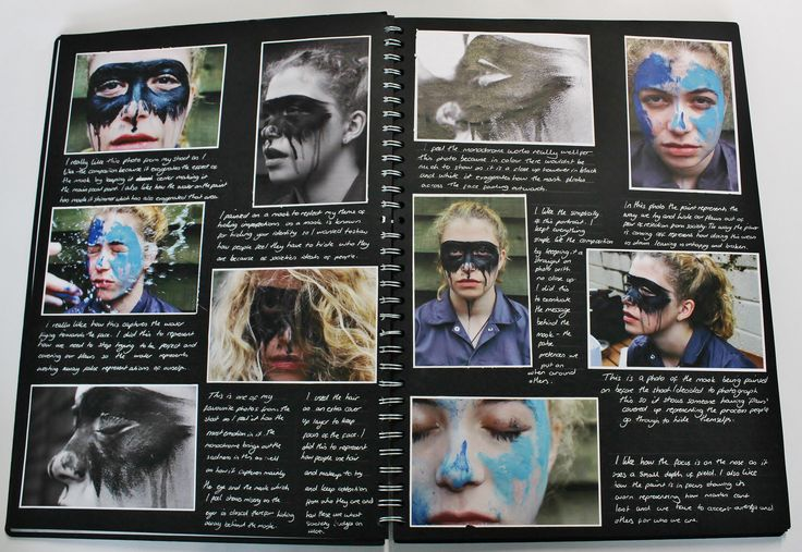 A2 Photography, A3 Black Sketchbook, Photoshoot, CSWK Theme 'Flaws, Perfections, Ideals and Compromises', Thomas Rotherham College, 2015-16