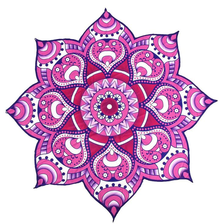 Beach Towel 144cm Shower Towel Blanket Throw Polygon Flower Yoga Mat Beach Pool Home Textile Table Cloth