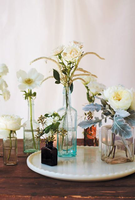 143 best images about trends we love on pinterest for Glass bottle centerpiece ideas