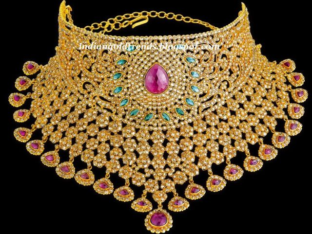 Latest Indian Gold and Diamond Jewellery Designs: Heavy ...