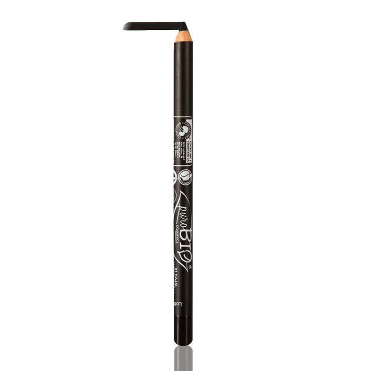 """Matita Biologica Occhi """"Nero puroBIO"""" 01: matita usata nella congiuntiva come kajal e come eyeliner sulla palpebra mobile."""