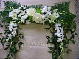 b4 květinový rámec bílý