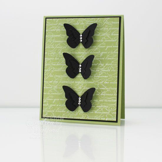 Butterfly card: Beautiful Butterflies, Beautiful Cards, Black Butterflies, Cards Butterflies, Colors Combinations, Beautiful Wings, Butterflies Cards, Backgrounds Colors, Diy Cards