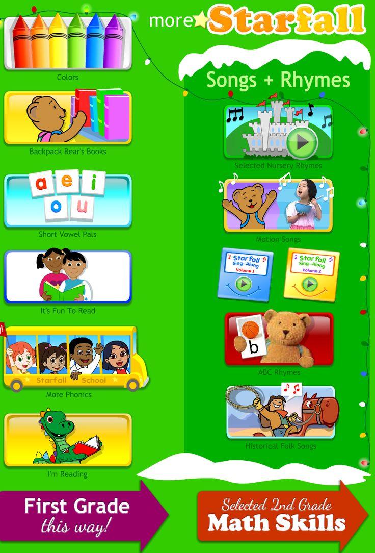 Starfall Fun, educational website for preschool and