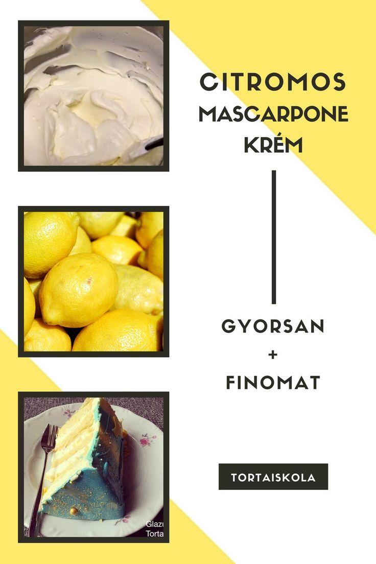Citromos mascarpone krém, tortához