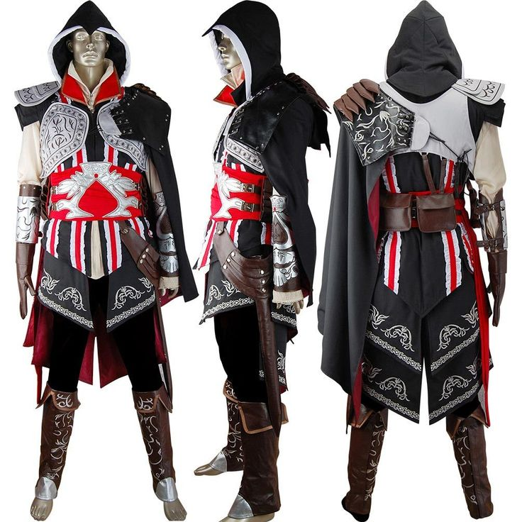 Assassins Creed 2 II Ezio cosplay costume deluxe halloween costume comic-con anime costumes fancy dress for kids children adults
