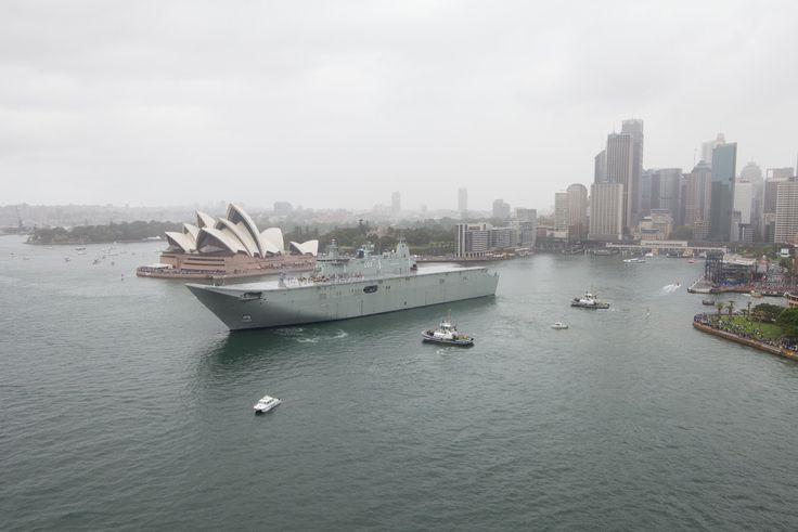 HMAS Canberra Credit: Gareth Christian