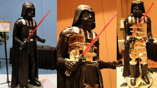 This 500-pound Darth Vader cake could feed the entire Death Star #starwars