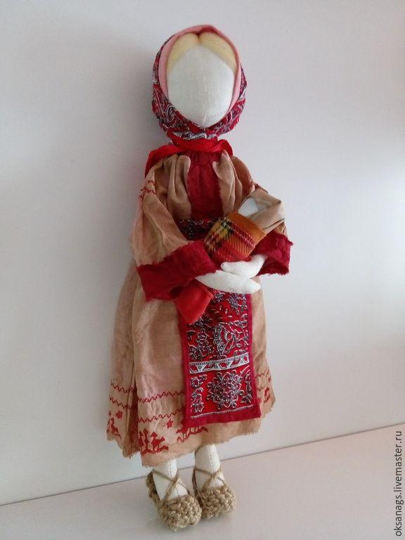 Купить кукла игровая МАМУШКА - бордовый, кукла ручной работы, кукла в подарок, кукла интерьерная