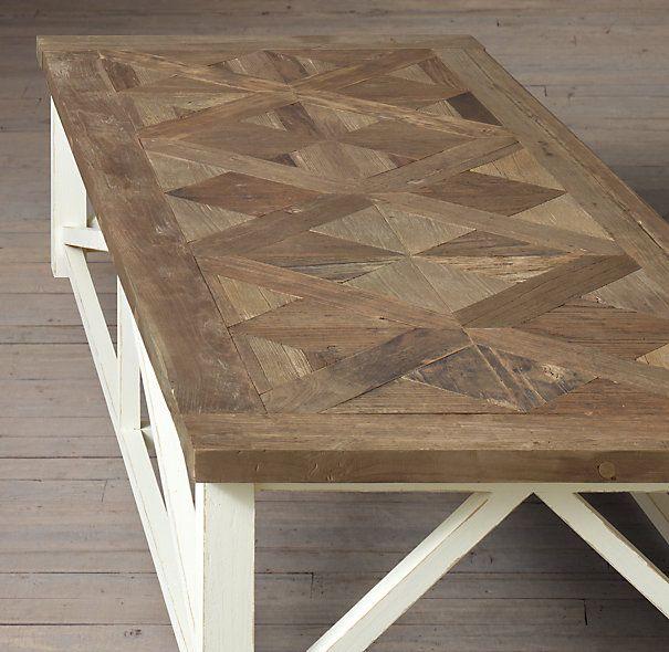 Parquet X Brace Coffee Table Love Detail Matching