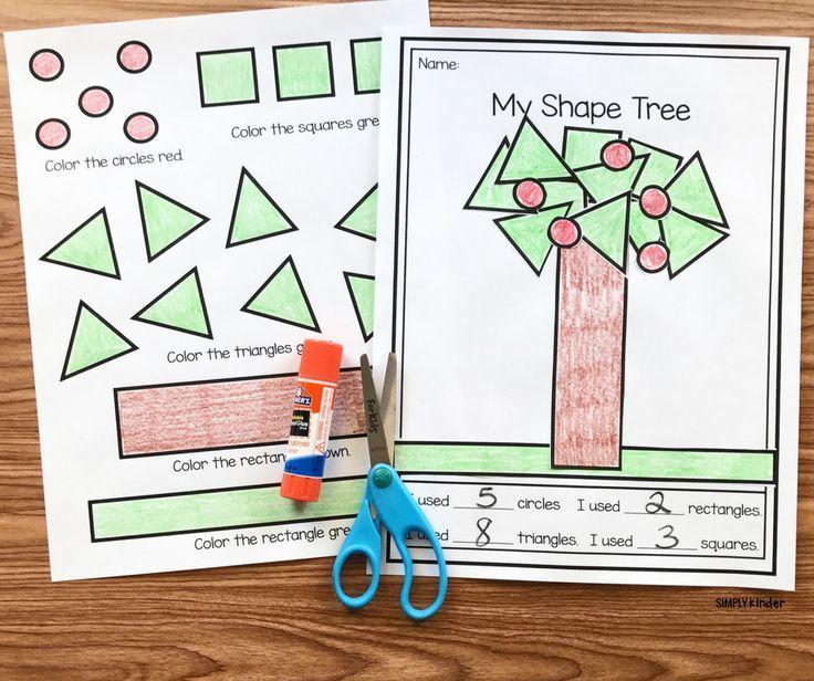Free Printable 2D Shape Tree