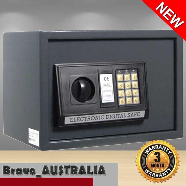 Large Personal Electronic Security Steel Safe Box w Digital Code Key Deposit