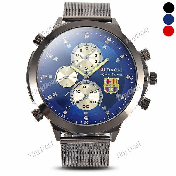 Presell Fashion FCB Sign Design Big Case Stainless Steel Band Men Watch Sub-dials Quartz Wrist Watch WWT-377478
