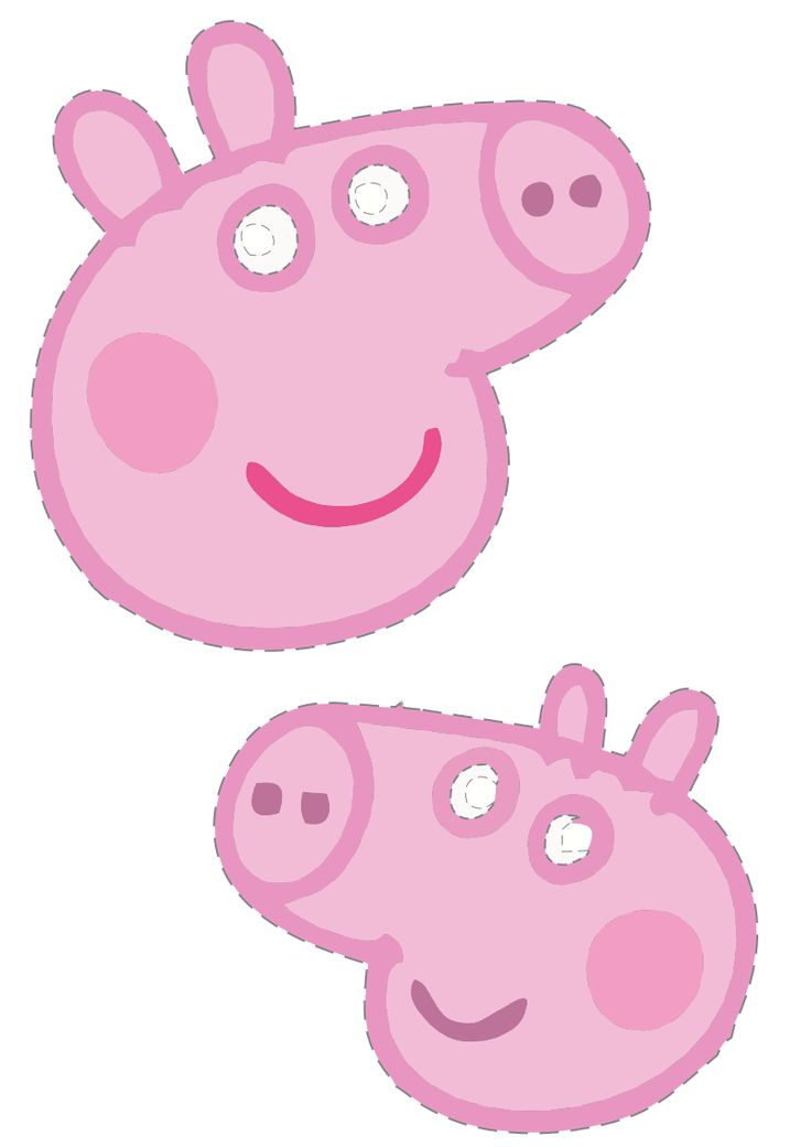 Máscaras para festa da Peppa Pig e Backyardigans para imprimir - Dicas pra Mamãe - Peppa pig face masks. download and print.