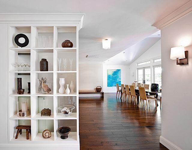 nice room dividing, open shelves