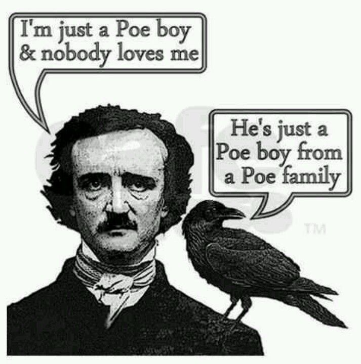 edgar alla poe art humor | Edgar Allan Poe humor | Library displays