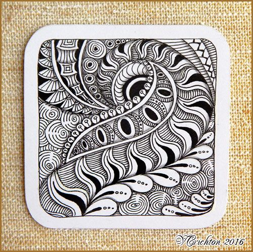 Zentangle tiles 9x9 cm zentangle pattern tangle drawing for Zentangle tile template