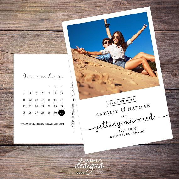 Save the Date Postcard, Save-the-Date Card, Calendar, Save our Date Invite, Photo, DIY Printable, Digital File