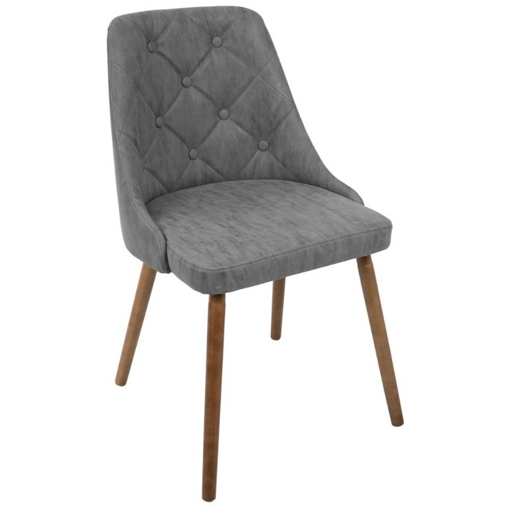 Giovanni midcentury modern diningaccent chair in walnut