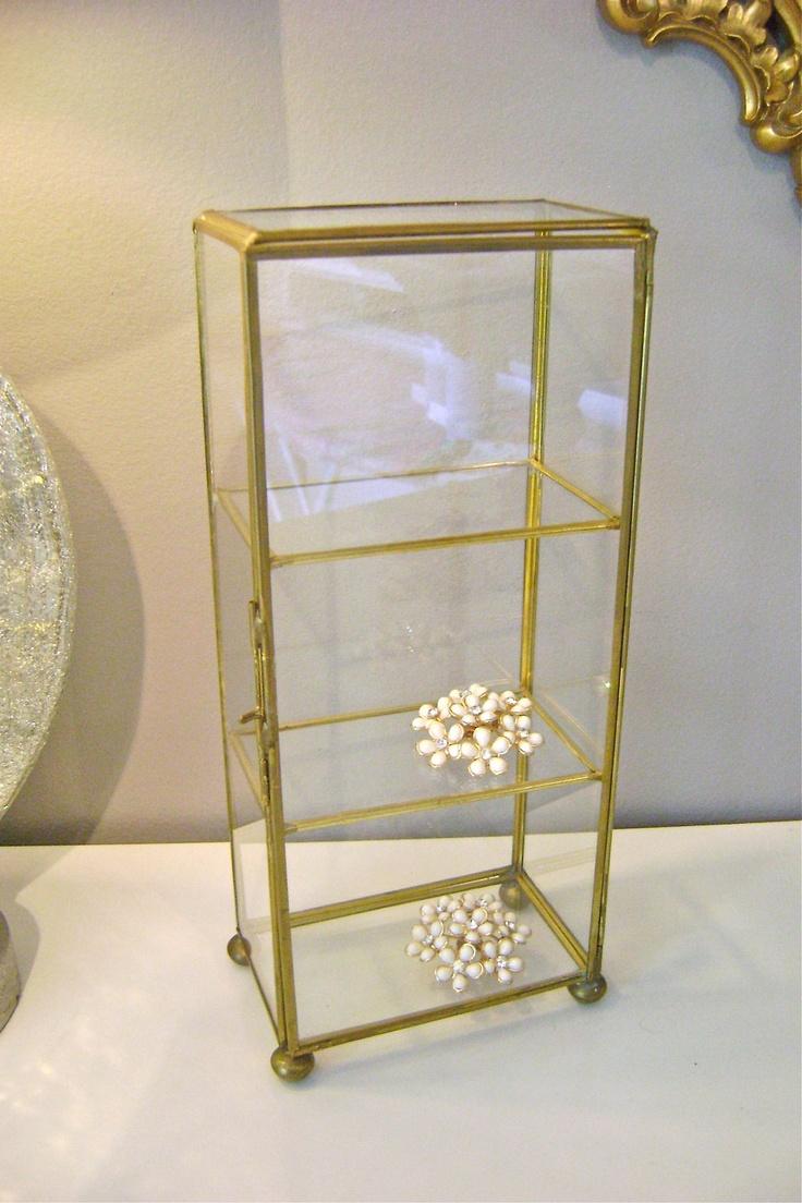 tall vintage glass display case