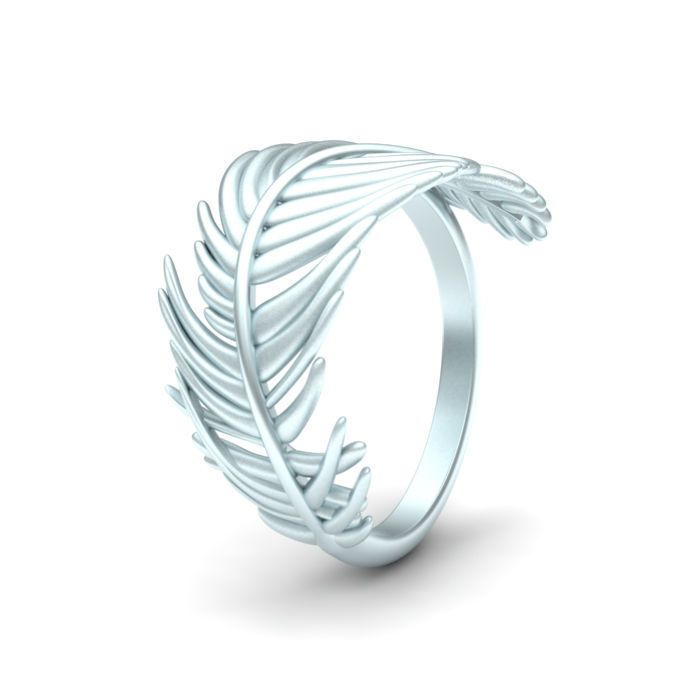 jewelry feather ring 3d model stl 1