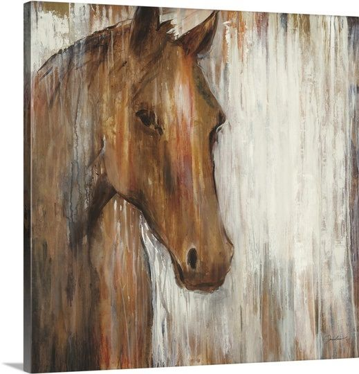 Horse painted on rustic white washed wood.                                                                                                                                                      More