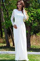 Белое платье Невеста открытой спиной 63720255