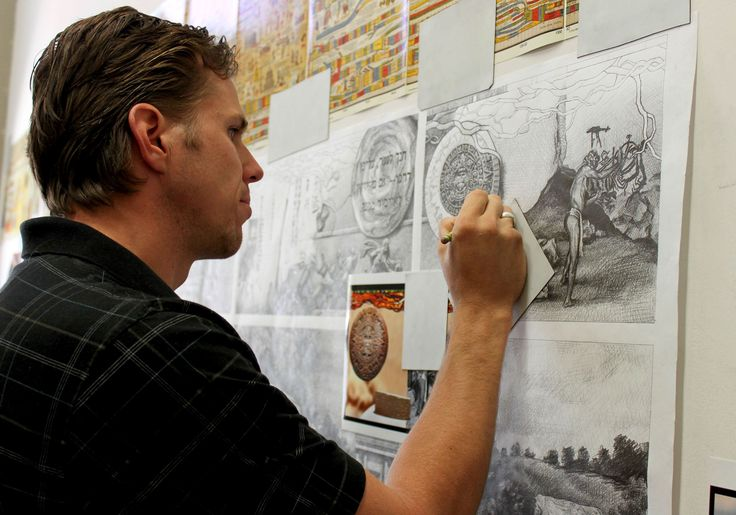 Roots of Knowledge- stained glass window project at the Utah Valley University- Tom Holdman Studios