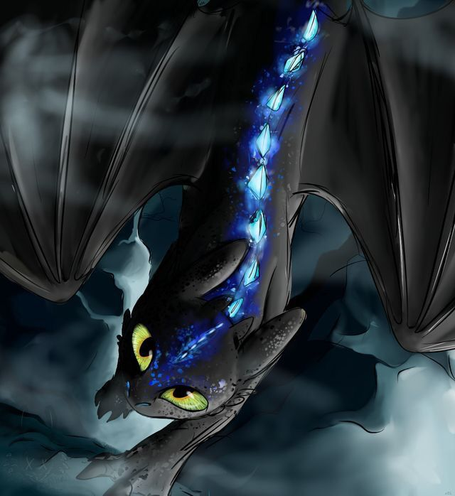 Alpha night fury night fury in 2019 how to train your dragon dragon movies dragon - Dragons furie nocturne ...
