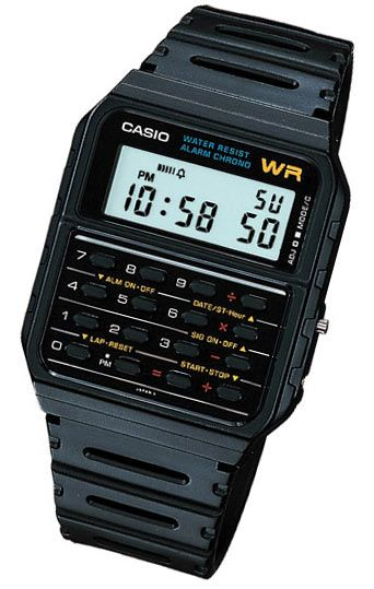 Casio Calculator Watch. I had one of these - who knew its be the precursor to my geeky love of all things electronic?