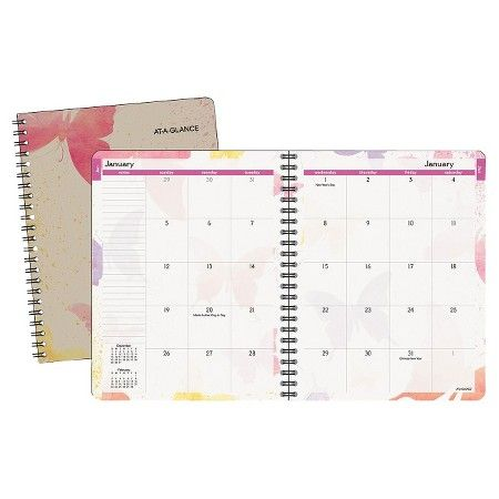 AT-A-GLANCE® Watercolors Monthly Planner, 6 7/8 x 8