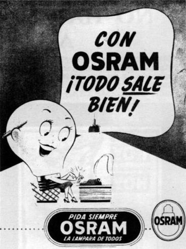 Resultado de imagen de anuncios antiguos de osram en television