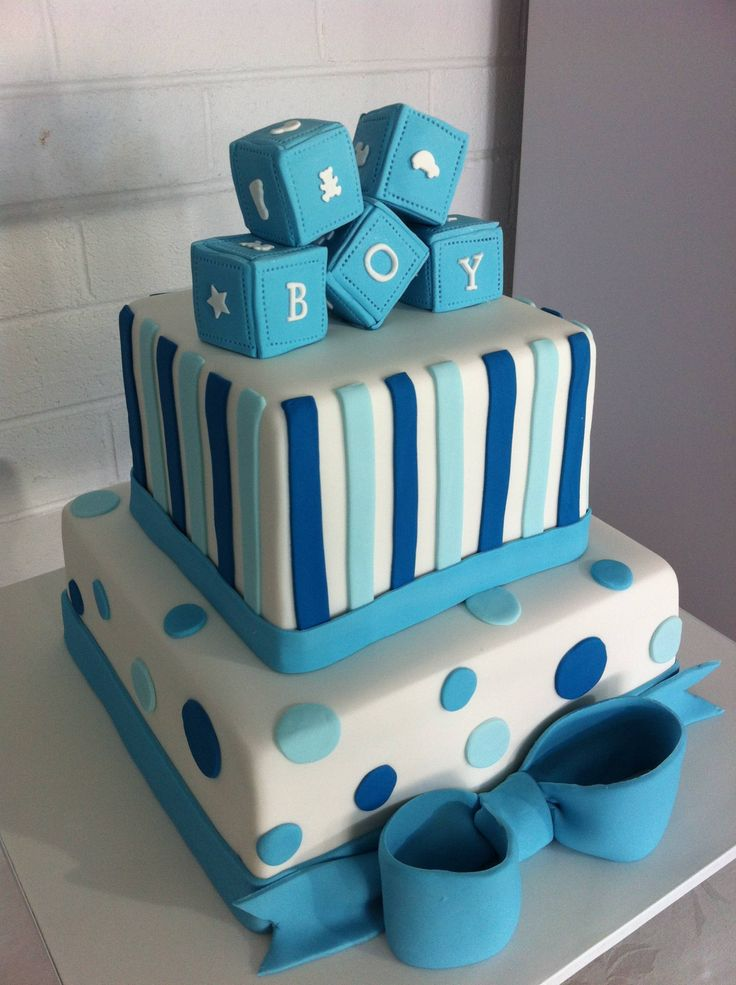 Images Of Newborn Baby Boy Cake : 17+ best ideas about Boy Baby Shower Cakes on Pinterest ...