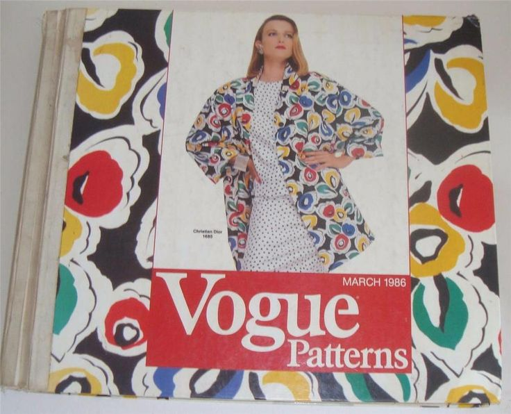 VINTAGE VOGUE PATTERN CATALOGUE 1986 SHOP COUNTER TOP BOOK FASHION DESIGN