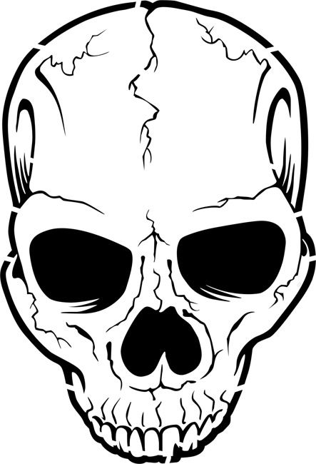 quickly and easily create your own spooky halloween decorations with our cracked skull painting stencil