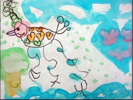 My niece's original artwork. Love the colors.: Color