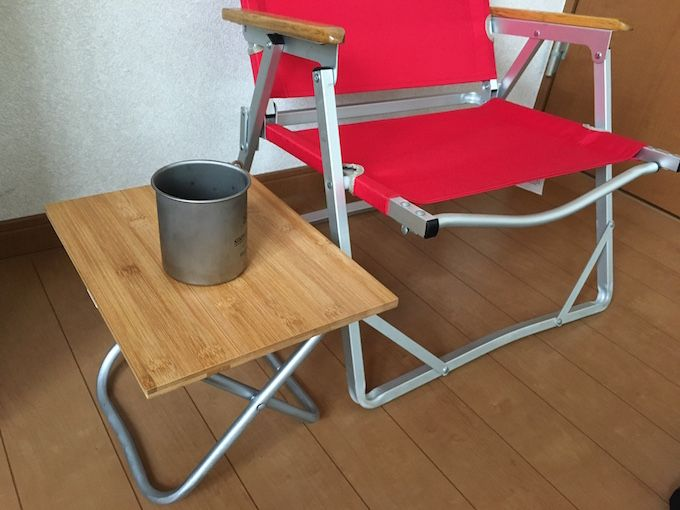 Diyアイデア 100均 ダイソー で買った竹まな板でスノーピーク風のテーブルを自作した 100均 テーブル テーブル Diy 100均 キャンプ テーブル 自作
