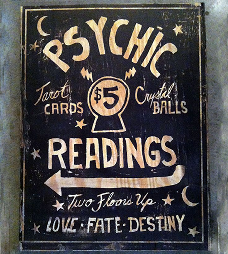 Psychic Readings Wood Sign | Art Pieces | Old Dirty Type | Scoutmob Shoppe | Product Detail