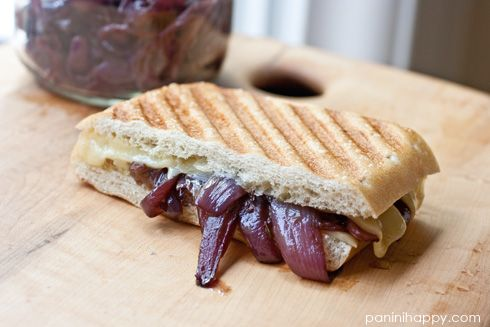 Grilled Gruyere with Red Onion Confit: Grilled Gruyer, Vegetarian Food, Worthi Food, Red Onions, Grilled Cheese, Onions Paninis, Gruyer Paninis, Vegetarian Vegans Recipes, Grilled Sandwiches