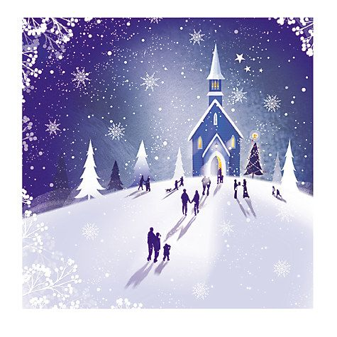Buy Paperhouse Midnight Mass Charity Christmas Cards, Pack of 6 Online at johnlewis.com