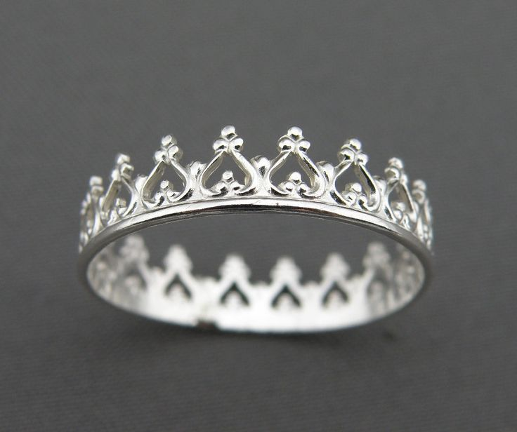 Silver Ring - You Are My Princess. $24.00, via Etsy.