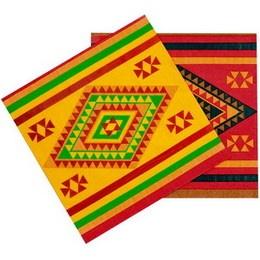 Servetten Mexicaans -  Een pakje met 12 servetten bedrukt in Mexicaanse stijl. Afmeting: 33 x 33cm. | www.feestartikelen.nl