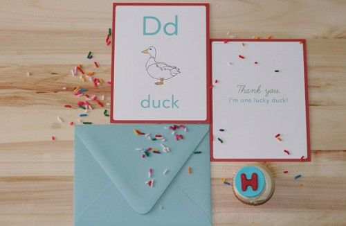 thank you note for the alphabet party