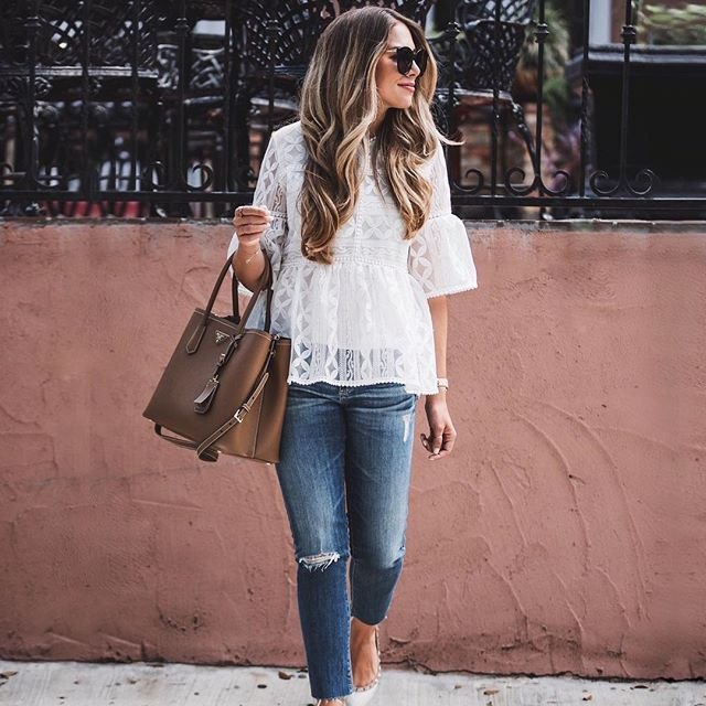 White lace top